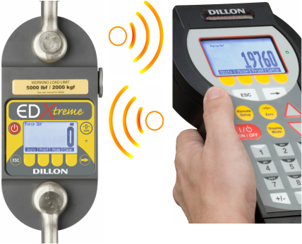 Dillon Dynamometer crane scales wireless weighing tension link scale remote display communication