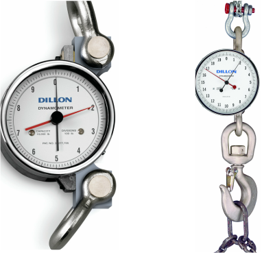 Dillon AP dial dynamometer crane scale tension dial force measurement tension link mechanical dial