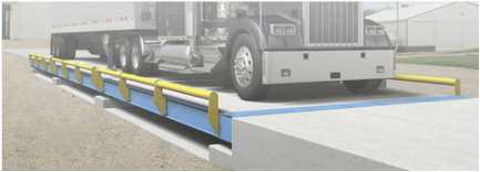 Avery Weigh-Tronix motor truck scale weighbridge portable rental scale